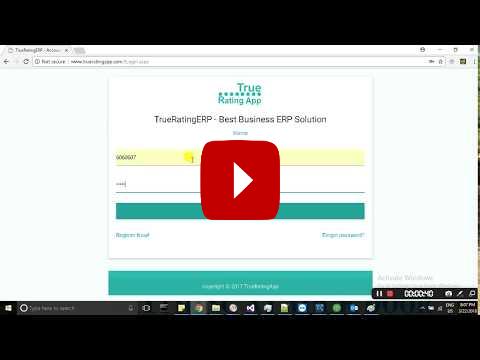 ERP - TrueRating ERP